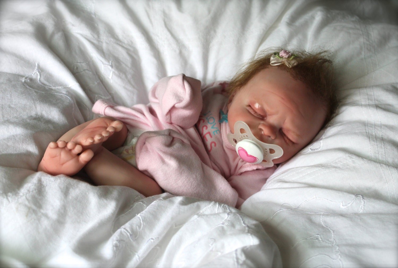 Reborn Baby Girl Newborn Sleeping Baby by TheBabyLoveNursery
