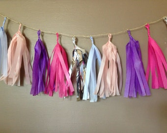 Princess Tissue Paper Garland - 4 feet long
