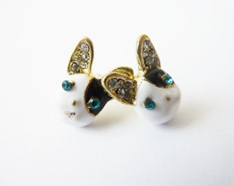 french Bulldog Earrings Studs