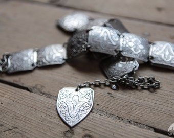 """20% DISCOUNT! Medieval Etched Belt """"Lost Princess""""; Stainless Steel Belt; Metal belt"""