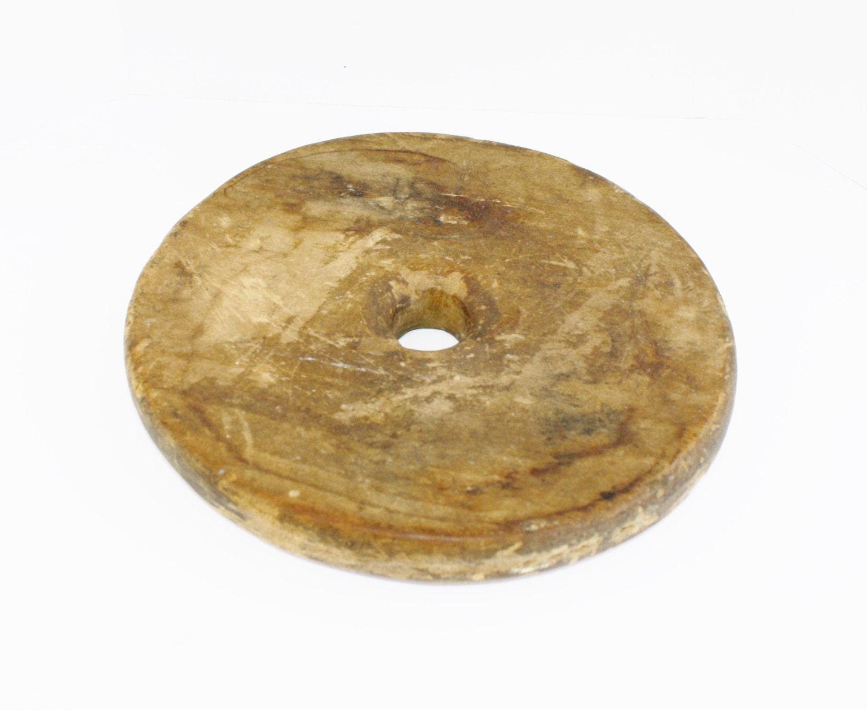 Farmhouse Butter Churn Top Old Wood Lid Hole Vintage Crock