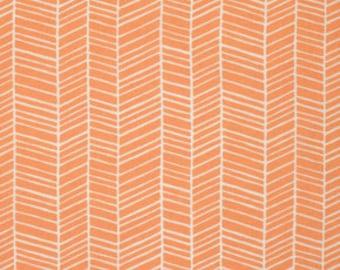 Herringbone in Carrot from Flora by Joel Dewberry