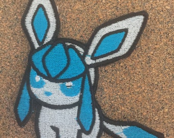 Pokemon Glaceon Iron on or sew on Patches