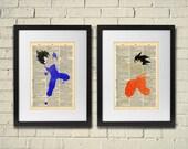 Dragon Ball Z Goku and Vegeta Minimalist Series