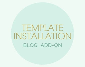 Template Installation -  Blogger template installation or WordPress theme installation