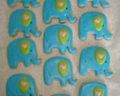Reserved for Nicole - Baby Shower, Birthday, Baby Elephant Vanilla Sugar Cookies - 1 Dozen