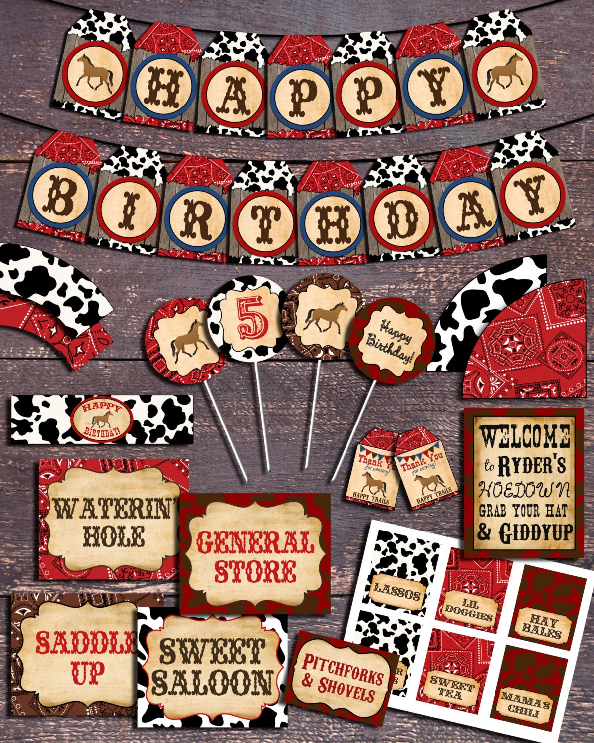 Western Theme Party Printable Western Party Decorations