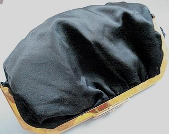 Black Cutch Purse Top Snap Purse, Evening Purse, Classic Purse, Clutch Purse,Dating Purse, Hand Held Bag,Ladies Bag,Vintage Fashions