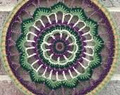 "Dreamcatcher // Mandala // Wall Hanging // Purple and Green // 8"" Hoop Art"
