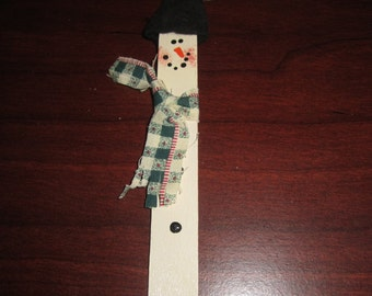 Snowman Wood Christmas Tree Ornament