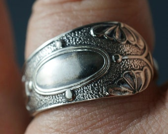 Victorian SPOON Ring - SPOON jewelry band -   - vintage SpoonJewelry No.00123