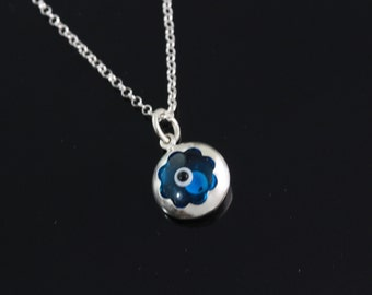 925 Sterling silver Evil Eye Necklace, Silver evil eye Jewelry, evil eye pendant