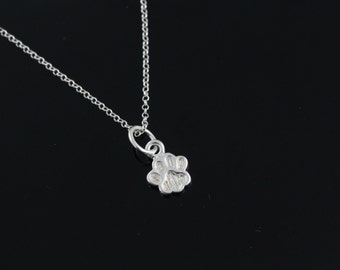 925 Sterling silver paw Necklace, Silver paw necklace, sterling paw pendant necklace, sterling silver paw jewelry RX154