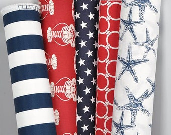 TABLE RUNNER Nautical Wedding Runner Table Runners Blue Red  Baby shower  Nursery Decor Party Navy Table Cloth