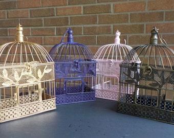 Bird Cage Card Holder, Money Holder Custom Colors, Birdcage Baby Shower Money Holder, Holiday Decor, Shower Card Holder, Wedding Card Holder