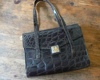Christian Dior vintage handbag,  crocodile leather