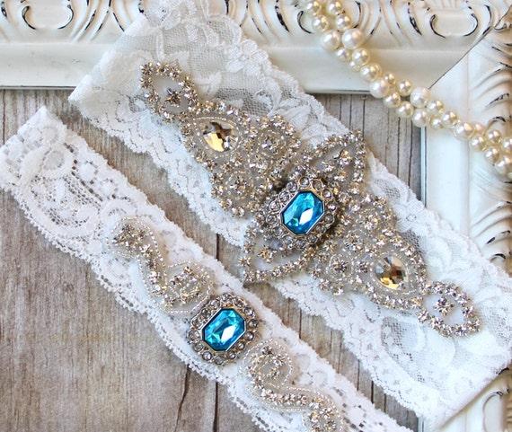 What Is Wedding Garter: Garter Set Customizable Wedding Garter W/ Toss Turquoise