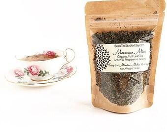 Organic Tea Moroccan Mint Loose Full Leaf Tea Pouch