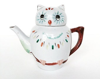 Vintage Owl Tea Pot / Vintage Tea Pot / Woodland Animal / Antique Tea pot / Owl / Tea Lovers Gift