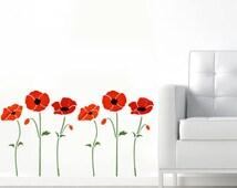 Poppy Stencil, poppies stencil, floral stencils, floral wall décor, painting stencils, wall stencils, art craft
