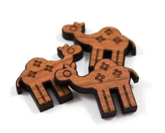 Laser Cut Supplies-8 Pieces, Camel Charms- Laser Cut Wood Camel - Earring Supplies-Little Laser Lab Sustainable Wood Products