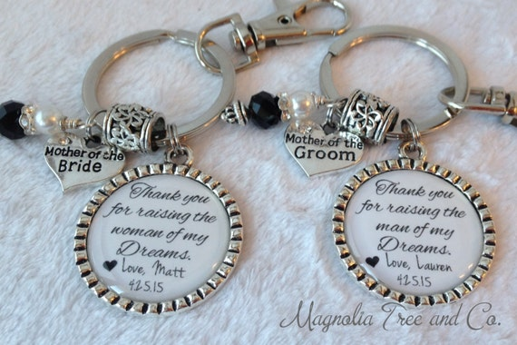 Mother Of The Groom Gift: Mother Of The BRIDE, Mother Of GROOM Keychain, Necklace