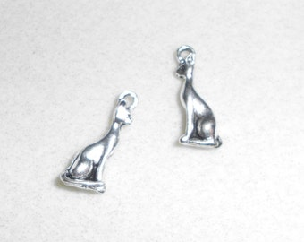 Silver Cat Charms