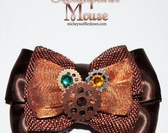 Steampunk Mouse Hair Bow
