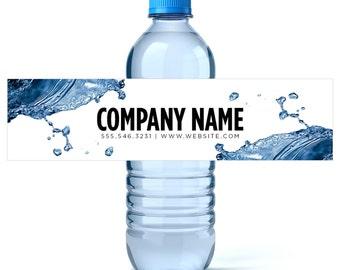 Custom Water Bottle Labels Your Business Logo or Design