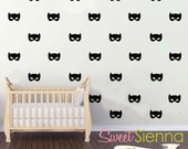 Batgirl wall decals, Batgirl decal, Batgirl wall sticker, nursery wall decal, wall decals, wall stickers, vinyl wall decal stickers  x40