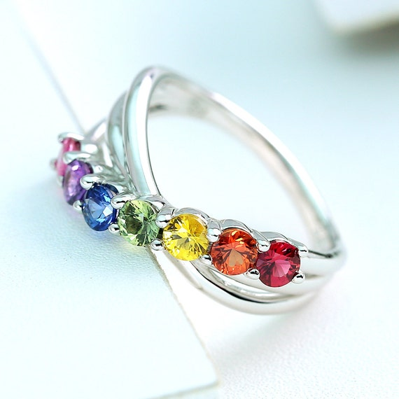 rainbow ring lgbt pride miniature - photo #31