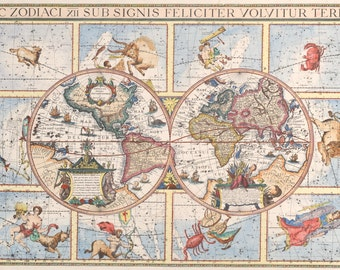 Canvas wall decor, World map, Canvas art, Wall decor, Fine art prints, Wall art, Canvas print, 179