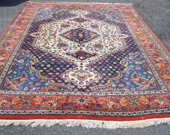Oriental Rug - 1980s Hand-Knotted Bakhtiari Style Rug (3138)
