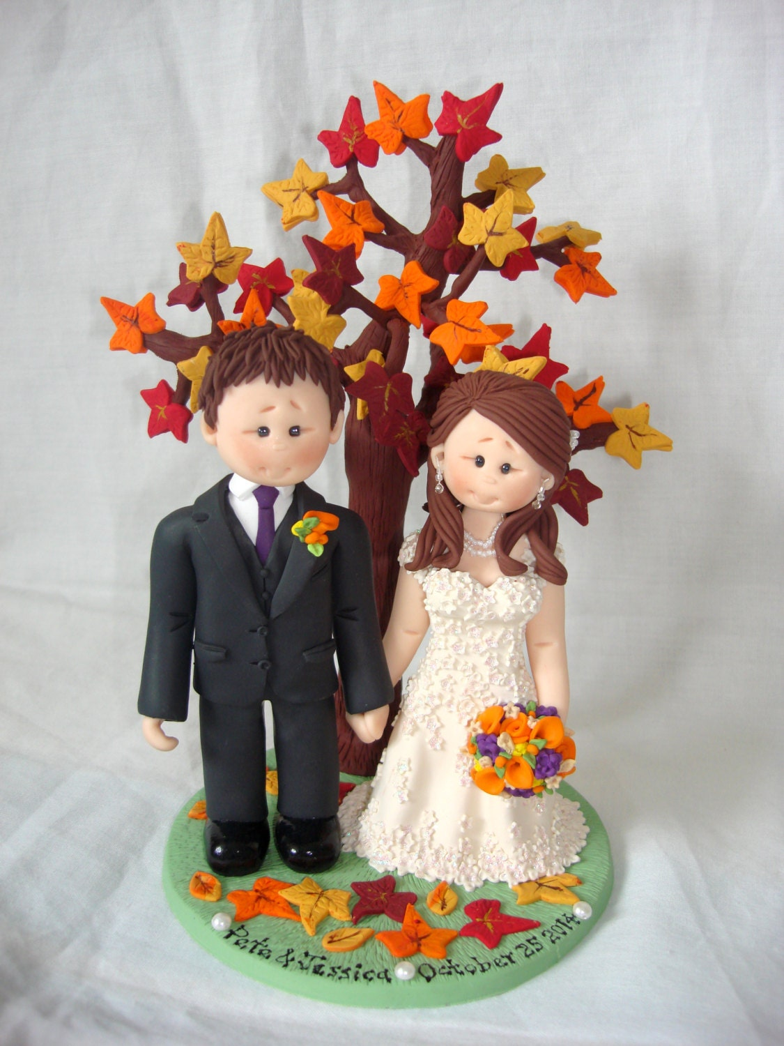 fall wedding cake toppers fall autumn theme wedding cake topper custom made and 14178