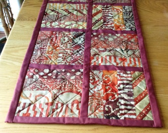 Autumn/Fall quilted batik table runner