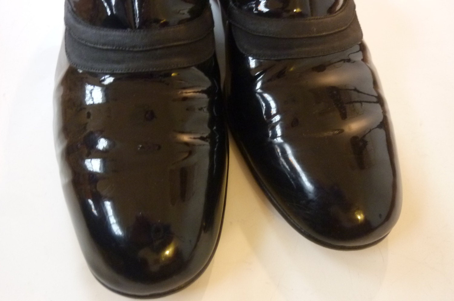 vintage s formal tuxedo shoes black patent leather