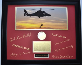 Military Signature Mat Board Unique Going Away Gift Deployment Coast Guard Airforce Army Marine Navy, promotion, Display Coin Photo Patch