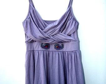 Boho dress purple, Sundress purple, purple dress summer, peacock dress, bohemian sundress, cute beach dress, dress for mom, heat wave dress