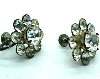 Screw earrings, Bridesmaid earrings, Vintage earrings, Screw Back Earrings, Floral earrings, Earrings, Flower earrings, Vintage jewelry