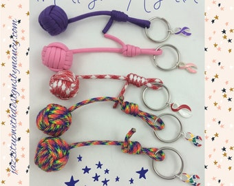 Paracord Monkey Fist Keychain Made to Order You pick color