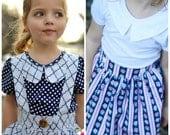 Charlotte Collar Top PDF Sewing Pattern Sizes 1/2-14
