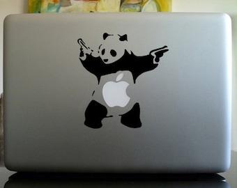 Macbook Decal sticker / Laptop Decal sticker - Banksy Panda macbook vinyl decal