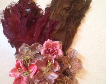 Feathers and Flowers Fascinator!!