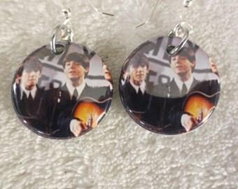 The Beatles George and Paul dangle earrings