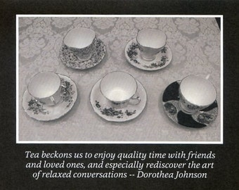 Tea in black and white - photo card