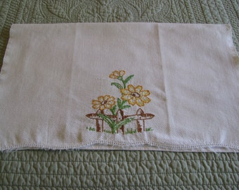 Hand Embroidered Tea Towel