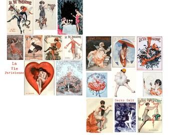 La Vie Parisinne Digital collage set