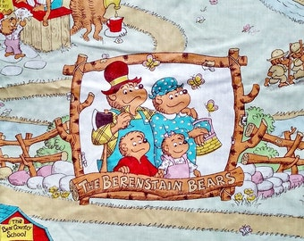 Vintage 1983 Berenstain Bears Fitted Twin Sheet