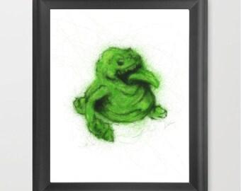 Ghostbusters Slimer INSTANT DOWNLOAD, kids room, 80's kid, room decor. pop culture- Digital Download