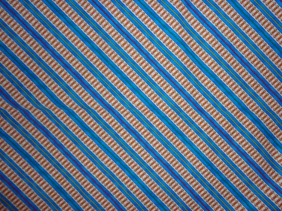 Thomas train railroad tracks cotton fabric by the by for Train fabric by the yard